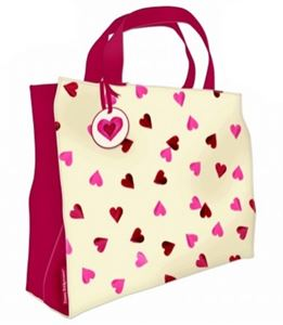 Large Shopper Pink Hearts