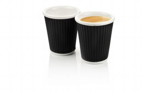 Coffee Cups 18cl Black