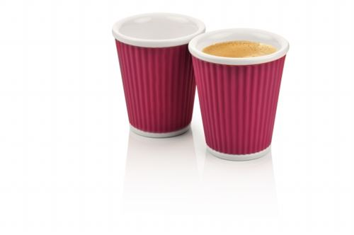 Coffee Cups 18cl Eggplant