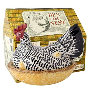 Large Hen Silver Boxed