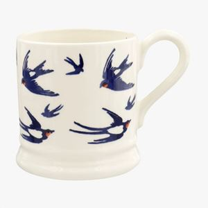 ½ pt Mug Blue Swallows