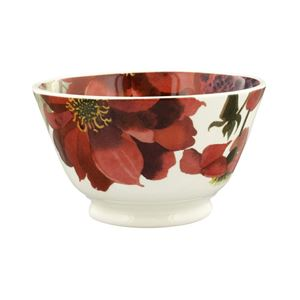 Small Old Bowl Red & Pink Dahlias
