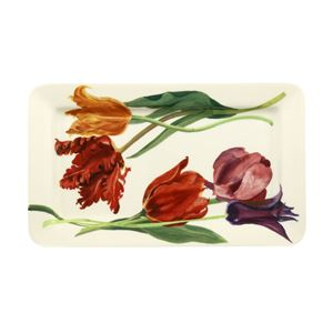 Medium Oblong Plate Tulips