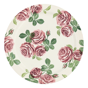 Serving Plate Pink Roses