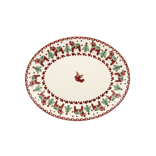 Small oval Platter Christmas Joy