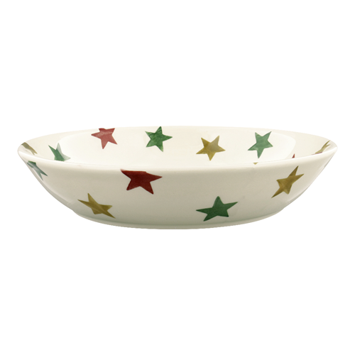 Pastabowl Red Green & Gold star
