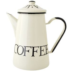 Coffee Pot Emaille Black Toast