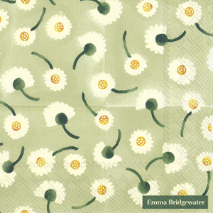 Lunch Servet Daisy Light Green