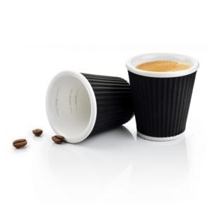 Coffee Cups 8cl Black