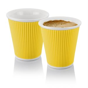 Coffee Cups 18cl Yellow